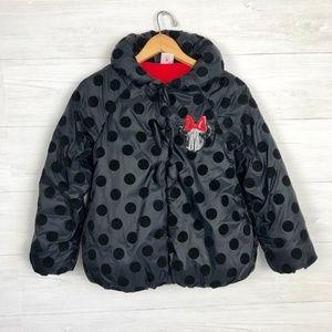 Disney Minnie Mouse Girls Polka Dot Coat Size 9/10